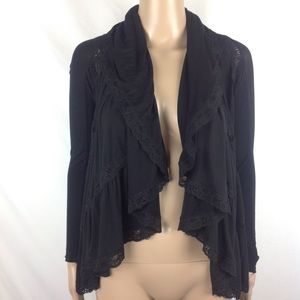 Bailey 44 Cardigan Draping Ruffle Lace Sz XS